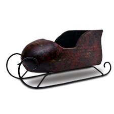 Handmade Decorative Ceramics Christmas Sleigh