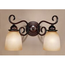 Chamonix Two Light Wall Sconce in Bronzed Cinnamon