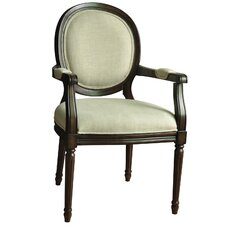 Huntington Linen Round Back Arm Chair