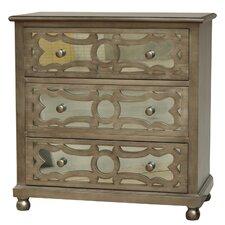 Preston 3 Drawer Dresser with Mirror