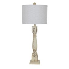 """Antique Collum 34"""" H Table Lamp with Drum Shade"""