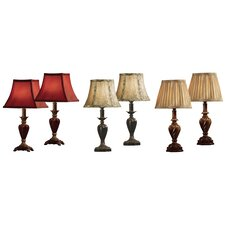 """6 Piece 17"""" H Table Lamp Set with Bell Shade"""