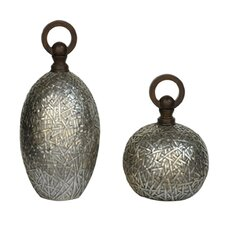 2 Piece Tinsdale Decorative Urn Set