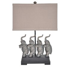 """Traditions Conga 26.5"""" H Table Lamp with Rectangular Shade"""