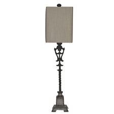 """Belle Buffet 37.5"""" H Table Lamp with Rectangular Shade"""