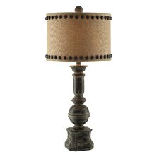 "Summit Iron Baluster 32"" H Table Lamp with Drum Shade"