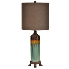 "Wine Country 32.5"" H Table Lamp with Drum Shade"