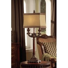 "Lisle 37"" H Table Lamp with Rectangular Shade"