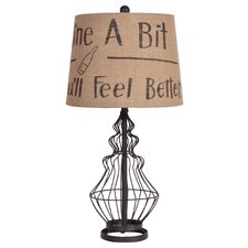 """White Country 24"""" H Table Lamp with Empire Shade"""