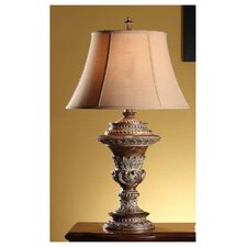 """Lucienne 35"""" H Table Lamp with Bell Shade"""