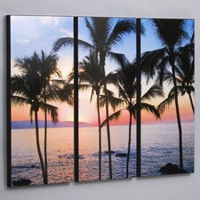 Puerto Vallarta Sunset 3 Piece Framed Photographic Print Set
