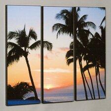 Ka'anapali Sunset 3 Piece Framed Photographic Print Set