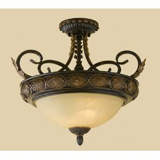 Round Table Elements 2 Light Semi Flush Mount