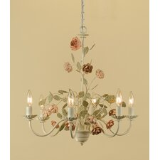 Ramblin Rose 6 Light Chandelier
