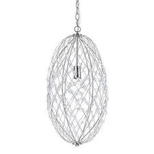 Silver Web Horizons 1 Light Globe Pendant