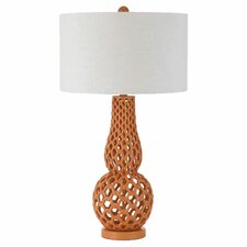 "Chain Link 31"" H Table Lamp with Drum Shade"
