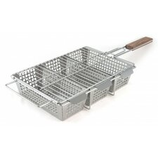 Stainless Steel 3-Compartment Basket
