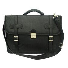Entrepreneur XXL Portfolio Leather Laptop Briefcase