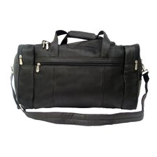 "Traveler 19"" Leather Weekender Duffel with Side Pockets"