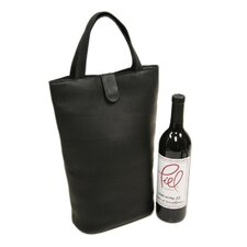 Fashion Avenue Double Wine Tote in Black