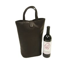 Fashion Avenue Double Wine Tote in Chocolate