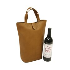 Fashion Avenue Double Wine Tote in Saddle