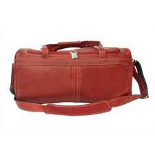 "Blushing Red Leather 17"" Small Travel Duffel"