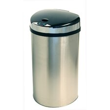 13-Gal. Semi-Round Extra-Wide Opening Touchless Trash Can