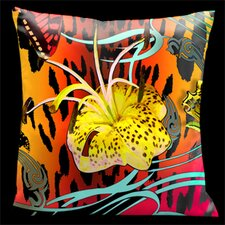 Butterflies with Animal Print Throw Pillow