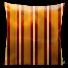 Como Gardens Striped Microsuede Throw Pillow