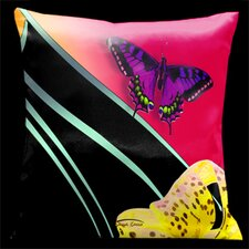 Butterflies and Tiger Lily Throw Pillow