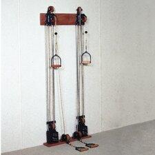Dual Handle Pulley Upper Body Gym