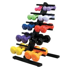 Vinyl Coated Dumbbell with Floor Rack (Set of 20)