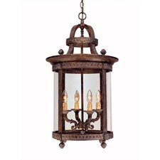French Country 4 Light Outdoor Hanging Lantern