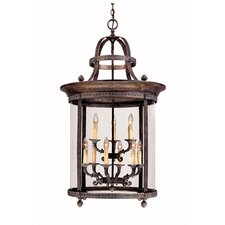 French Country 9 Light Outdoor Hanging Lantern