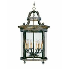 French Country 6 Light Outdoor Hanging Lantern