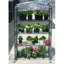 Early Start 3.5 Ft. W x 1.5 Ft. D PVC Growing Rack Greenhouse