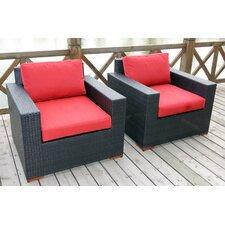 Pasadina Deep Seating Chair with Cushions (Set of 2)