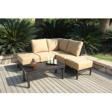 Monterey Corner Sectional 6 Piece Deep Seating Group with Cushions