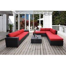 Pasadina Conversation Sectional 8 Piece Deep Seating Group with Cushions