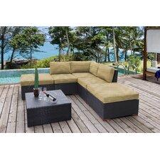 Pasadina 6 Piece Corner Lounge Seating Group with Cushion