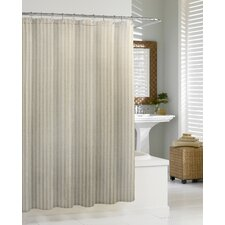 Cotton Blend Chevron Shower Curtain