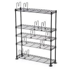 5-Tier Adjustable Multimedia Storage Rack