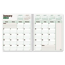 Duraglobe 2012-2014 Hard Cover Monthly Planner