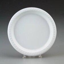 Round Plastic Plates in White