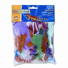 Bright Hues Feather Assortment, Approximately 325 Feathers per Pack (Set of 2)