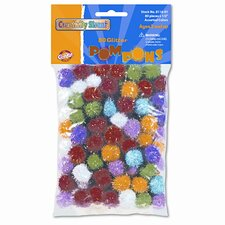 "1/2"" Multicolored Poms, 80 Per Bag (Set of 2)"