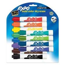 Dry Erase Markers, Chisel Tip, 12/Set