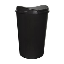 13.8-Gal. Semi-Round Touch Lid Wastebasket (Set of 4)
