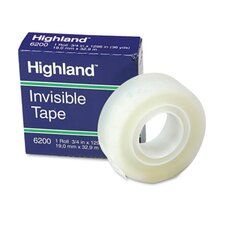 """Invisible Permanent Mending Tape, 3/4"""" X 1296"""", 1"""" Core (Set of 4)"""